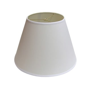 Crown Lighting 12-inch high Bright White Empire Lamp Shade with Liner