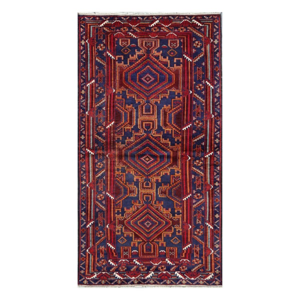 Herat Oriental Afghan Hand-Knotted Tribal Balouchi Wool Rug (3'5 x 6'4)