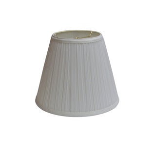 Crown Lighting 9-inch high Bright White Pleated Empire Lamp Shade w/Liner