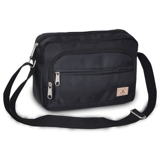 Everest Small Black Messenger Bag
