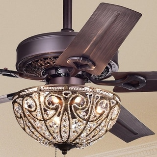 Catalina Bronze-finished 5-blade 48-inch Crystal Ceiling Fan & Ceiling Fans For Less | Overstock.com azcodes.com