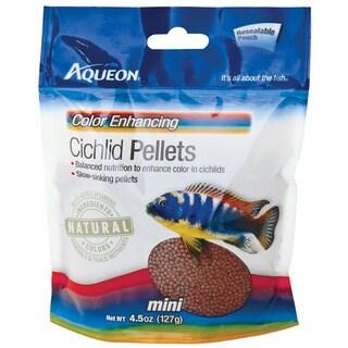 Aqueon Color Enhancing 4.5-ounce Mini Cichlid Pellets