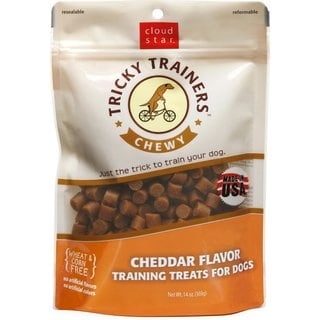 Cloud Star 5-ounce Chewy Tricky Trainers Cheddar Flavor Dog Treats