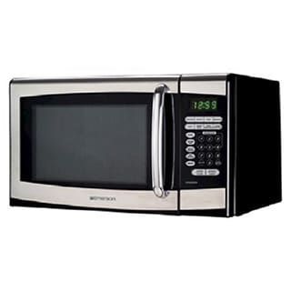 shop emerson mw8999sb stainless steel 0 9 cubic foot 900 watt rh overstock com Emerson Microwave Mw8995b Mini Office for Microwave
