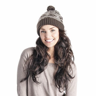 Muk Luks Women's Fairisle Dot Cuff Cap