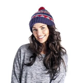 Muk Luks Women's Chunky Fairisle Reversible Cuff Cap