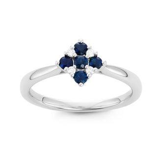 Boston Bay Diamonds 14k White Gold Sapphire and Diamond Accent Fashion Ring