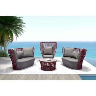 Faye Bay Cranberry and Grey Beach Chair|https://ak1.ostkcdn.com/images/products/10412401/P17512964.jpg?impolicy=medium