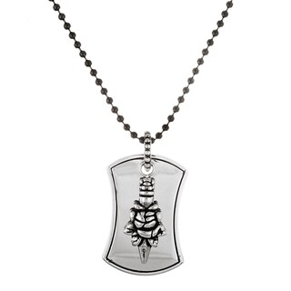 Reinforcements Stainless Steel Men's Dog Tag Necklace