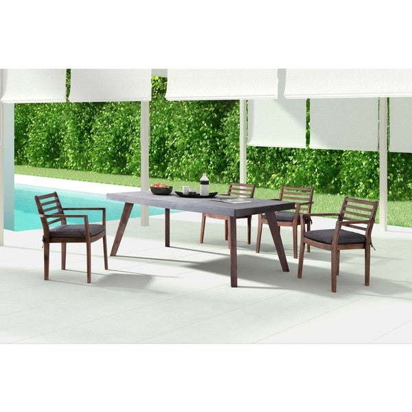 Shop Son Cement And Natural Dining Table Free Shipping Today