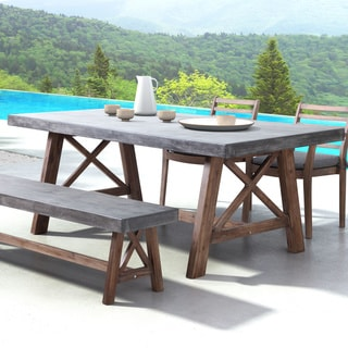 Beau Ford Cement And Natural Dining Table