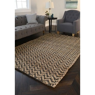Kosas Home Dagon Herringbone Gray/Nat 4x6 Rug