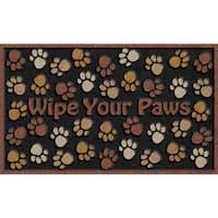 Outdoor Wipe Your Paws Brown Doormat (18 x 30)