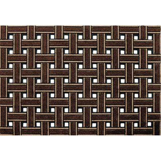 Outdoor Weave Brown Doormat (2' x 3')