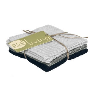 100-percent Cotton Neutral Knitted Dishcloths (Set of 3)