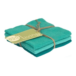 100-percent Cotton Marine Knitted Dish Cloths (Set of 3)