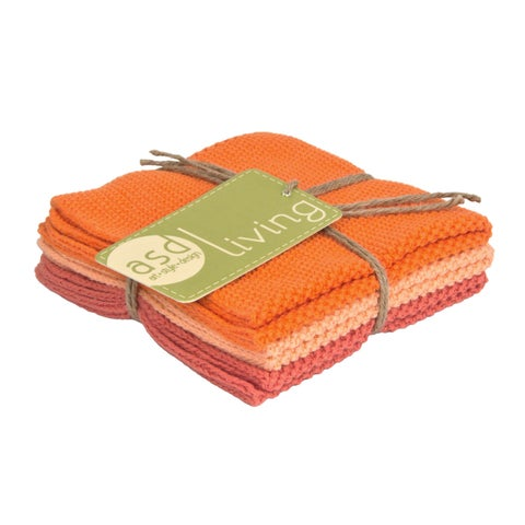 Set of 3 Fresh Melon Cotton Dishcloths