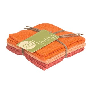 100-percent Cotton Melon Knitted Dish Cloth (Set of 3)