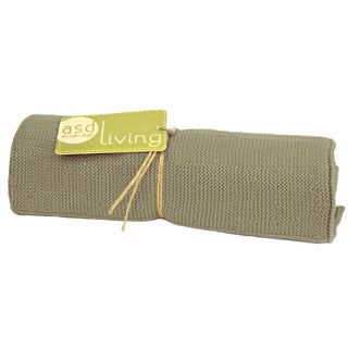 Stone Grey Knitted Kitchen Towel