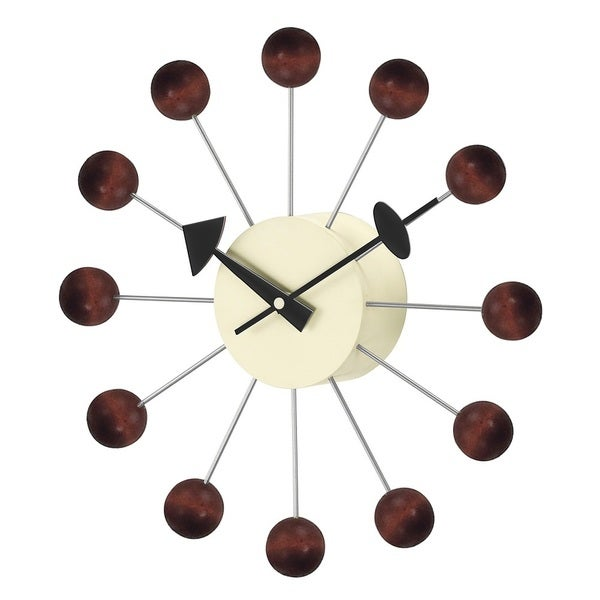 Hans Andersen Home Walnut Ball Clock