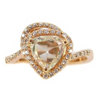 Kabella Luxe 18k Rose Gold 1 1/4ct TDW Trillion Rose-cut Diamond Ring (J-K, I2-I3)