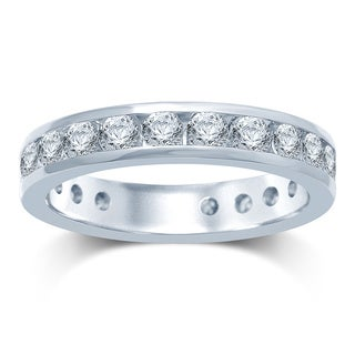 Unending Love 14k Gold 2ct TDW Machine-set Round Diamond Eternity Band (H1 , I1-I2)