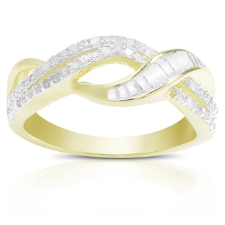 Finesque 1/5 ct TDW Diamond Infinity Design Ring