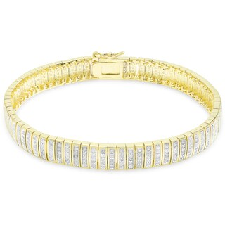 Finesque Overlay 1ct TDW Diamond Bracelet