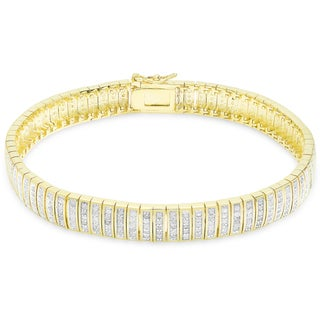 Finesque Overlay 1ct TDW Diamond Bracelet (5 options available)