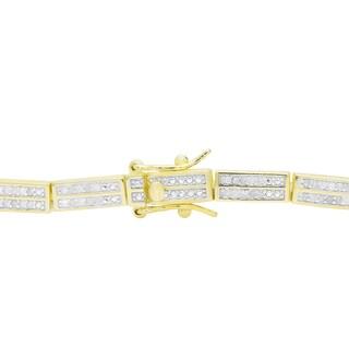 Finesque 1ct TDW Diamond Link Bracelet