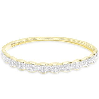 Finesque 1/3ct TDW Diamond Bangle (3 options available)