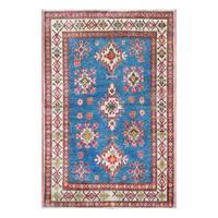 Handmade Herat Oriental Afghan Tribal Kazak Wool Rug  - 4' x 6' (Afghanistan)