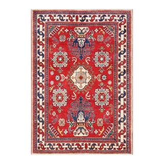 Herat Oriental Afghan Hand-knotted Tribal Kazak Wool Rug (4'4 x 6'4)