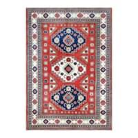 Handmade Herat Oriental Afghan Tribal Kazak Wool Rug  - 6'2 x 8'10 (Afghanistan)