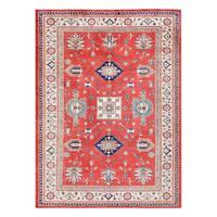 Herat Oriental Afghan Hand-knotted Tribal Kazak Wool Rug (8'3 x 11'4) - 8'3 x 11'4
