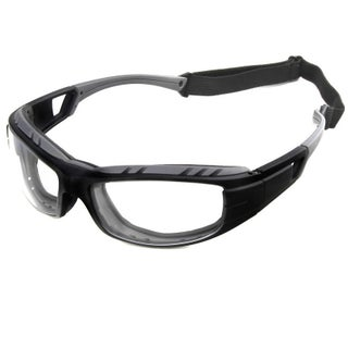 Hot Optix Wrap Around Motorcycle Glasses with Removable Foam Insert (Option: Black)