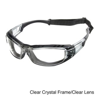 Hot Optix Wrap Around Motorcycle Glasses with Removable Foam Insert (Option: Clear)