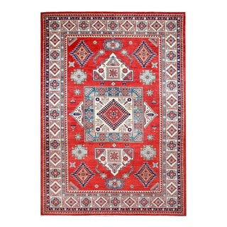 Herat Oriental Afghan Hand-knotted Tribal Kazak Wool Rug (8'10 x 12'4)