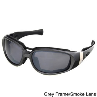 Hot Optix Motorcycle Sunglasses with Removable Foam Inserts (Option: Grey Frame/Smoke Lens)