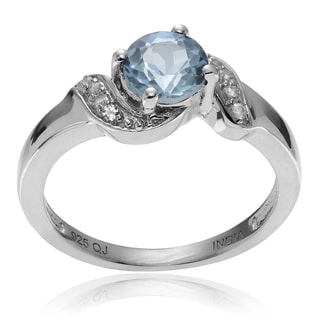 Journee Collection Sterling Silver Round Topaz Ring