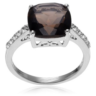 Journee Collection Sterling Silver Topaz Ring