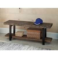 Carbon Loft Lawrence Reclaimed Wood Bench with Shelf