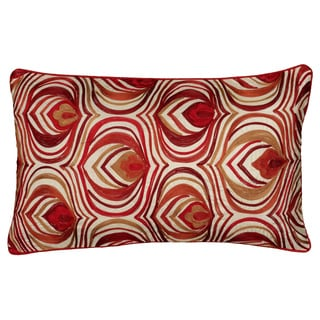 Rizzy Home 20-inch Red Ogee Accent Pillow