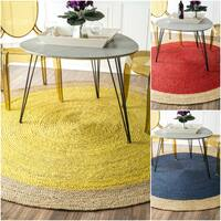The Gray Barn Cinch Braided Reversible Jute Area Rug - 8' Round