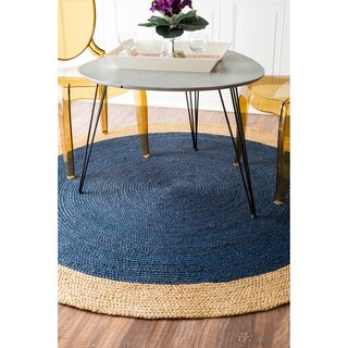 The Gray Barn Eagle's Nest Braided Reversible Jute Rug (8' Round) (2 options available)