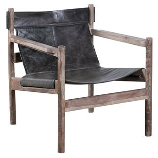 Water Buffalo and Wood Sling Chair(India)