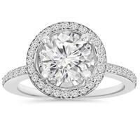 14k White Gold 2 1/ 8 ct TDW Clarity Enhanced Diamond Round Engagement Wedding Ring