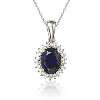 Suzy Levian Cubic Zirconia Sterling Silver & 18K Gold Princess Diana Solitaire Pendant
