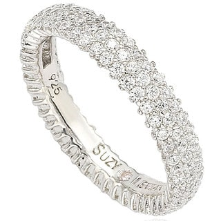 Link to Suzy L. Sterling Silver Micro-pave Cubic Zirconia Eternity Band - White Similar Items in Rings