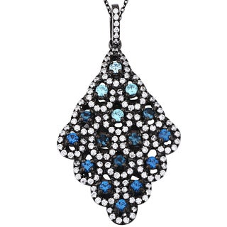 Suzy Levian Pave Cubic Zirconia Sterling Silver Pendant